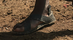 Masai traditional footwear Stock Footage