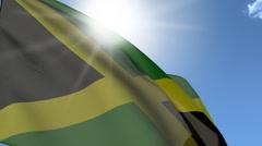 Flag Of Jamaica Stock Footage
