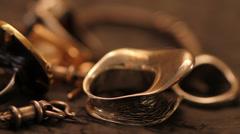 Jewelry closeup Stock Footage