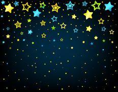 Cartoon star colored background Stock Illustration