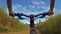 Bicycle ride in Bagan Stock Footage