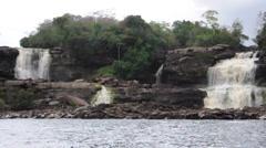 Waterfalls at Canaima, Venezuela Stock Footage