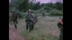 Vietnam War - Bong Son Battle 1966 - US Patrol 03 - stock footage