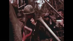 Vietnam War - Dag To Battle - US soldiers Patrol 02 Stock Footage
