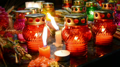 Abstract color oil lamps diversity. Stock Footage