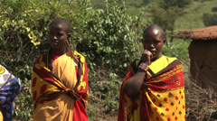 Masai women laughing Stock Footage