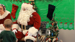 SANTA AND KIDS Stock Footage