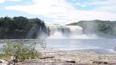 Waterfall at Canaima, Venezuela Stock Footage