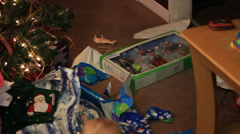 CHRISTMAS MORNING AFTERMATH Stock Footage