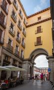 Archway entrance to plaza mayor of madrid, spain Stock Photos