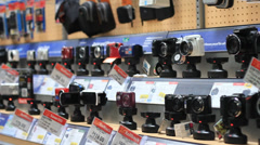 Cameras at the store - stock footage