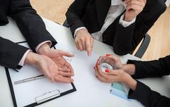 business conversation - stock photo