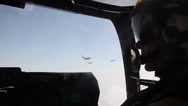 Stock Video Footage of MV-22B Ospreys and  KC-130J Hercules conduct aerial refueling training