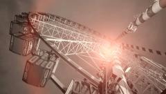 Ferries wheel. carnival. amusement park. activity fun. big wheel ride Stock Footage