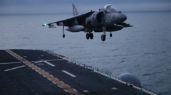 22nd MEU ACE Launches Harriers from USS Bataan Stock Footage