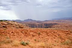 Arizona canyonlands landscape and storm Stock Photos
