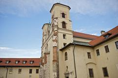 The benedictine abbey in tyniec Stock Photos
