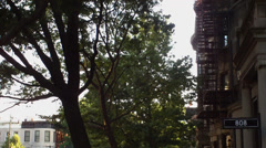 Brooklyn, New YorkExterior, Wide, Establishing shot, slow downward tilt. Stock Footage