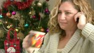 Stock Video Footage of Woman  celebrating christmas
