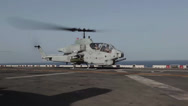 Stock Video Footage of 24th MEU AH-1W Super Cobra Flight Operations