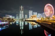 Stock Photo of yokohama night japan
