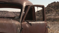 Truck Pickup Abandoned Desert Vintage Ghost Town Stock Footage
