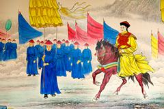 Chinese emperor painting Stock Photos