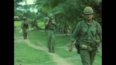 Vietnam War - Operation Piranha 1965 - Marines And Civilians Village 01 Stock Footage