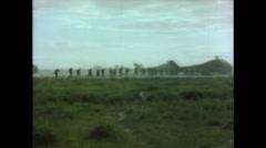 Vietnam War - Operation Piranha 1965 - Marines Boarding Helicopters 01 Stock Footage