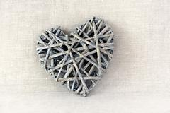 intricate wood heart - stock photo