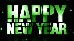 New year piece of text effects 12 Stock Footage