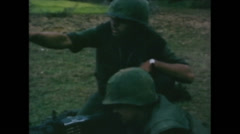 Vietnam War - Operation Piranha 1965 - Marines Capturing VietCongs 01 - stock footage