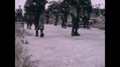 Vietnam War - Operation Toledo 1966 - US soldiers Marching 01 - stock footage