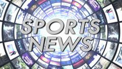Sport News Text in Monitors Tunnel, Loop Stock Footage