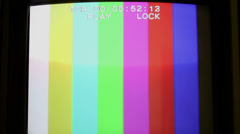 Analog TV signal Stock Footage