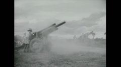 Vietnam War - US attack 02 - Artillery Stock Footage