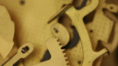 Pendulum clock mechanism. - stock footage