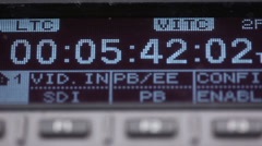 Timecode on the pro VCR Stock Footage