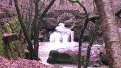 """Waterfall in """"Little Switzerland"""" Stock Footage"""