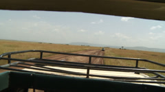 Driving in safari 2 Stock Footage