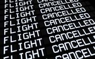 Stock Illustration of airport board cancelled flights