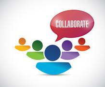 teamwork collaboration illustration design - stock illustration