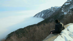 Winter ski resort Stock Footage