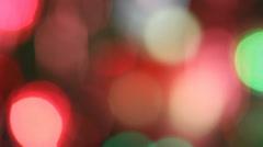Abstract bokeh on the Christmas tree - stock footage