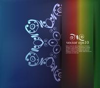 Elegant background with floral ornament. Vector - stock illustration