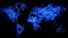 WorldMap Blue Stock Footage