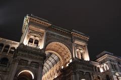 galleria vittorio emanuele in milan - stock photo