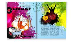 Stock Illustration of Layout magazine pages. Vector