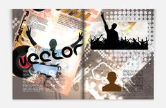 Layout magazine pages. Vector - stock illustration