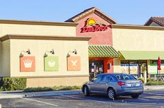 Del taco restaurant entrance - stock photo